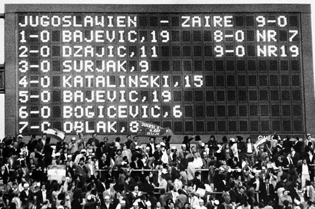 Zaire x Jugoslávia: a «degola dos inocentes»