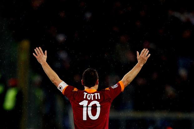 Totti, a bandeira de Roma
