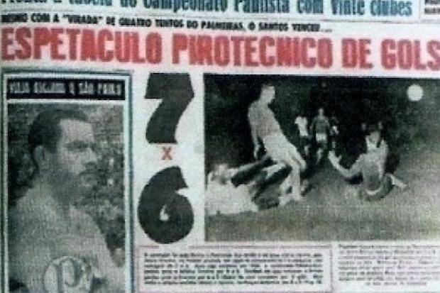 Santos 7 x 6 Palmeiras: um dos jogos mais espetaculares do futebol brasileiro