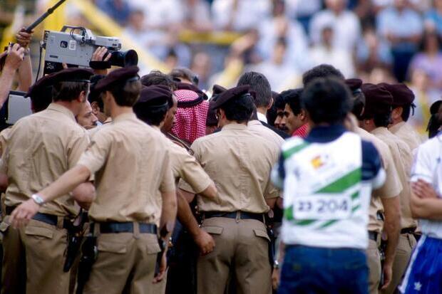 O dia em que o Sheik invadiu um jogo do Mundial